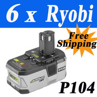 Wholesale 6 Pack Ryobi V Lithium Li ion Battery Ah ONE Tested Good Via EMS order lt no track
