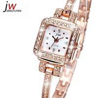 batteries jam - Diamond Rhinestone Rose Gold Watch Women Luxury Brand Fashion Casual Quartz Watches Relogio Feminino jam tangan orologio