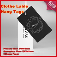 tags for clothing - Hot sell Supper High Grade tags Size X54 X42mm200PCS hang tags g sqm paper clothing tag suitable for writing words