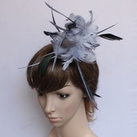 Wholesale 1 x Grey Feather Corsage Pin Brooch Hair Hat Garland Clip Clamp Ornament New order lt no tracking