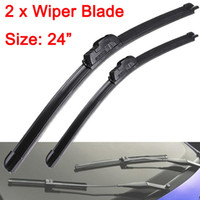 Wholesale 2pcs Soft Quality Bracketless Frameless Rubber Windscreen Windshield Wiper Blade