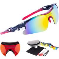 Wholesale Professional Cycling Glasses Polarized Sunglasses Bike Riding Eyeglasses Interchangeable Lens Cycling Sports Eyewear