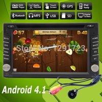 Wholesale 4 Android Car DVD Stereo Player Fastest GHZ dual Core Capacitive multi Touch Double Din Car PC CD Radio GPS BT WiFi G CAM Car DVD Vide