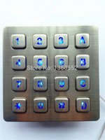 bank kiosk - keys usb backlit keypad Led backlit keyboard with illuminated x4 key button for payphone kiosk bank vending machine