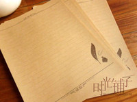 Wholesale Sales letter European goose quill contracted stationery Kraft paper stationery
