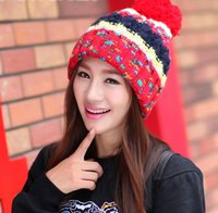 Wholesale 2014 new South Korea version keep warm Wool hat CONTRAST COLOR Autumn and winter style