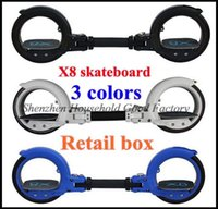 Wholesale 4set Boy gift x8 limit extreme sport skateboard skatecycle x8 fashion pulley two wheel scooter