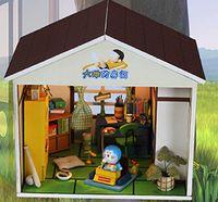 Wholesale 2015 Fashion Miniature Dollhouse Nobita s Room Funny DIY House Miniature Scale Model Building Assembling Toys