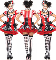 animated carnival - 2015 Halloween costumes sales Clown role playing Theme Costume Role play animated cartoon Costumes Cosplay top quality Apparel