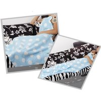 beds with tv - Warm Fleece Travel Blanket with hat for Sofa TV Office Shawl Throw Blanket Travel Plan Plaids for family bedding X150 CM