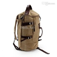Wholesale Vintage Large Capacity Canvas Travel Bags Luggage Sport Bag Men Military Duffle Bags For Male Malas Para Viagem khaki