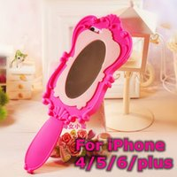 Cheap HOT sale 3D cute Barbie 's doll Magic Mirror Soft Silicone Case Back protective Cover for iPhone 4 4s 5 5s 6 4.7 inch 5.5 plus