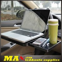 Wholesale New Multi function Tray for vehicle laptop dining tray car holder stands on steering wheel or seat back freeshipping