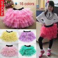 ruffle yarn - New Children Summer Ruffled Skirt Kids Girls Pettiskirt Children Girls Cake Skirt Colors Girls Net Yarn Bubble Skirt Kids TUTU M256