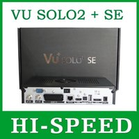 Cheap 1pc VU Solo 2 SE Linux System Decoder 1300 MHz CPU Twin DVB-S2 Ttuner VU SOLO2 mini HD Satellite Receiver free shipping