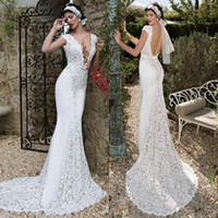 Cheap Cap Sleeves Mermaid Wedding Dresses Best Lace Wedding Gowns
