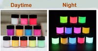 Wholesale New GLOW in the DARK Acrylic Paint fluorescent paint for Fabric luminous glow Graffiti Party DIY UV neon tinta pigment Decor