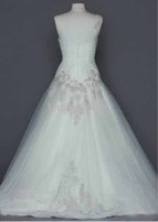 Cheap Hot sale 2015 Sexy Cheap One Shoulder Tulle Ball Gown with Lace Appliques White Wedding Dresses