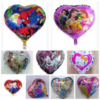 Foil Balloon balloon arch - 18 quot cartoon Heart shape Balloon Birthday Party decorations Inflatable Foil Air Ballloon Wedding Arch Kids Toys princess cat spiderman mickey