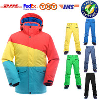 Wholesale Winter Ski Suit Men Waterproof Windproof New Snowboard Ski Jacket Pants Sets Men Breathable Thermal Ski Suit Snow Clothing