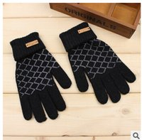 Wholesale New winter gloves Men Thicken winter gloves Five fingers mens Motor gloves Mens Winter Fur cycling glove LJJD1274 pairs