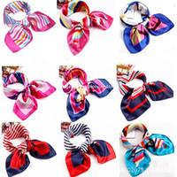 attendant gifts - Mobile Telecommunications flight attendants wear satin small square silk scarf gift Korean women printing factory