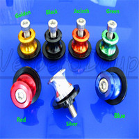 Wholesale Motorcycle Motorbike mm Swingarm Sliders Spools Bobbin For Kawasak Z800 NINJA ZX R ZX R Color Can Choose