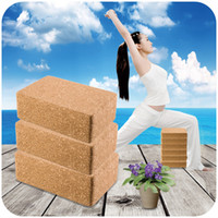assistive device - Natural oak yoga bricks green nontoxic odorless natural cork fitness assistive devices Yoga Blocks k3894