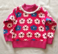 Wholesale piece cotton winter Warm Sweater cm year old baby girl lace Sweaters
