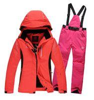 Wholesale Professional Ski Jacket Waterproof Ski Suit Fashion Skiwear Skiing Clothes Warm Ski Pants