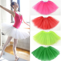 Wholesale Party Dresses Adults Womens Girls Tutu Ballet Dancewear Mini Short Skirt Pettiskirt Performance dance Costume Ball Gown stage wear fashion