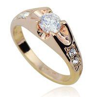 jewelry mounts - K Real Rose Gold Plated italina Mounting ct Zirconia Diamond fashion Jewelry ring Retail