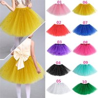 Wholesale New Arrivals Cute Baby Kids Girl Children s Princess Ballet Tutu Skirts Pettiskirt Net Yarn Glitter Dots Dancing Dress KA1 Free Shippin