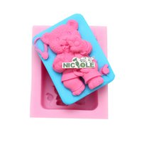 Wholesale Niclole bear silicone soap mold candle mold handmade resin craft polymer clay R1334