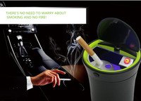 Wholesale Car Portable LED Car Ashtray Car Cigarette Lighter Ashtray There s No Need To Warry About Smoking And No Fire