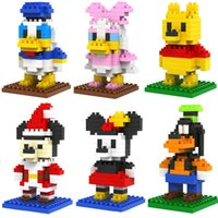 Plastics Chenghai 60 ~ 100 PCS Per Type Hot Sale 6PCS Building Blocks Donald Daisy Mickey Minnie Winnie Goofy LOZ Mini Diamond Blocks Toys Holiday Gift for Kids