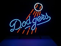 angeles business - Custom Business NEON SIGN board For MLB LOS ANGELES DODGERS BASEBALL GLASS Tube BEER BAR PUB Club Display Light Signs quot