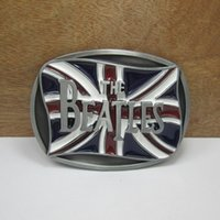 beatles costumes - England flag belt buckles unique blue white Beatles music belt buckle Retail company Western Turbo Nos Tunning cowboy