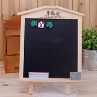 Wholesale PieceKorean version of the huts can be linked to dual stand blackboard message board magnetic small blackboard small house