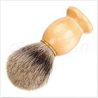 Wholesale 2000pcs CCA2932 High Quality Men Shaving Brush Badger Hair Removal Wooden Handle Homeuse Barber Tool BADGER Hair Shaving Brush Cosmetic Tool