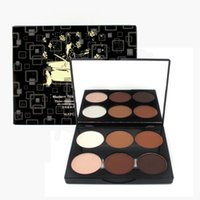 Wholesale Makeup Colors Face Pressed Powder Foundation Grooming Highlight And Contour Shadow Powder Palette For Professional Women