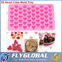 Wholesale Mini Heart holes heart Silicone Cake Cookie Muffin Jelly mould Baking Tools Loaf Soap Mold factory price