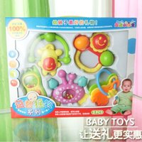 Wholesale 8pcs baby tattles baby mobiles Baby toy year old bell newborn male gift set