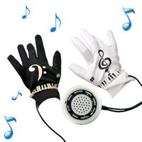 Wholesale Playable Interactive Piano Hand Music Gloves Electronic Exercise Instrument Kit with Built in Speaker Demo Melody Song Box Fun Toy Equalizer