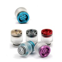 Wholesale seven hole drip tip wide bore metal air flow control airflow drip tip vs glass drip tips mouthpiece ecig