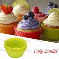 Wholesale Hot Sale cm Silica gel Liners baking mold silicone muffin cup baking cups cake cups cupcake