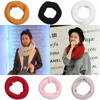Wholesale 5PCS Unisex Infinity Knitted Wool Snood Scarf Warm Infinity Scarves Shawl Circle Wraps Neckerchief Colors Choose EMV