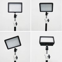Wholesale W160 LED Video Light Lamp W LM K KDimmable for Canon Nikon Pentax DSLR Camera Camcorder ZM00073