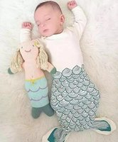 Cheap 2016 Spring Summer Baby Infant Sleeping Bag Kids Mermaid Shark Sleeping Bags Blanket Child Cotton Pajamas Nightclothes Children Clothing
