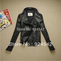 america sheep - Europe and America new women s short genuine leather jacket woman with zipper sheep skin leather coat for free